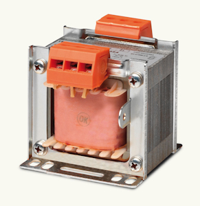Single phase safety and insulating transformers IP00