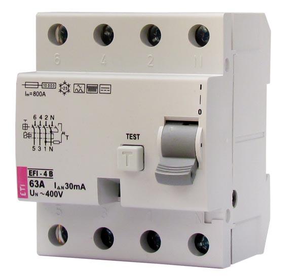 Residual current circuit breakers RCCB