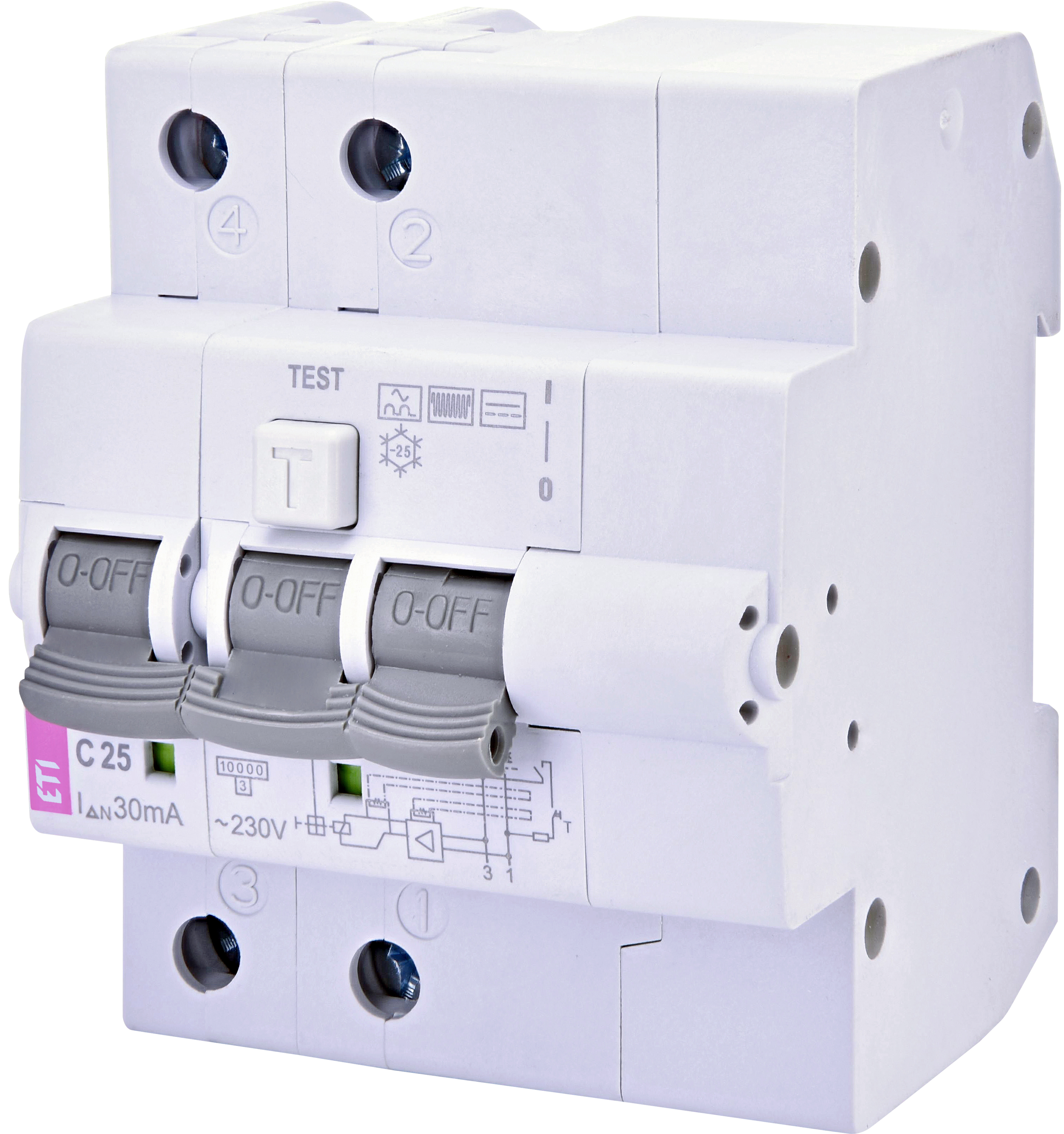 Products Services Eti General Switch Breaker Box Fuses Rcbo Kzs 4m 2p B Type Residual Current Circuit With